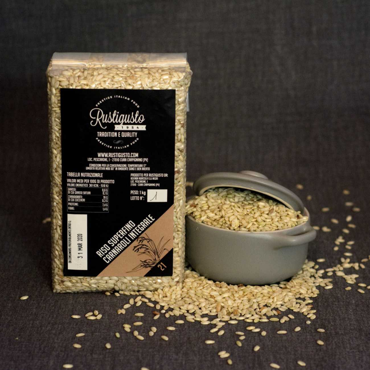 Superfine carnaroli integral rice - Rice