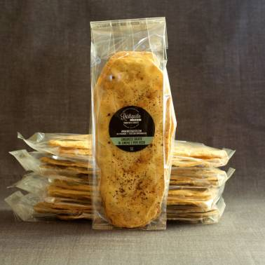 Salted linguacce with lemon and pink pepper - Breadsticks