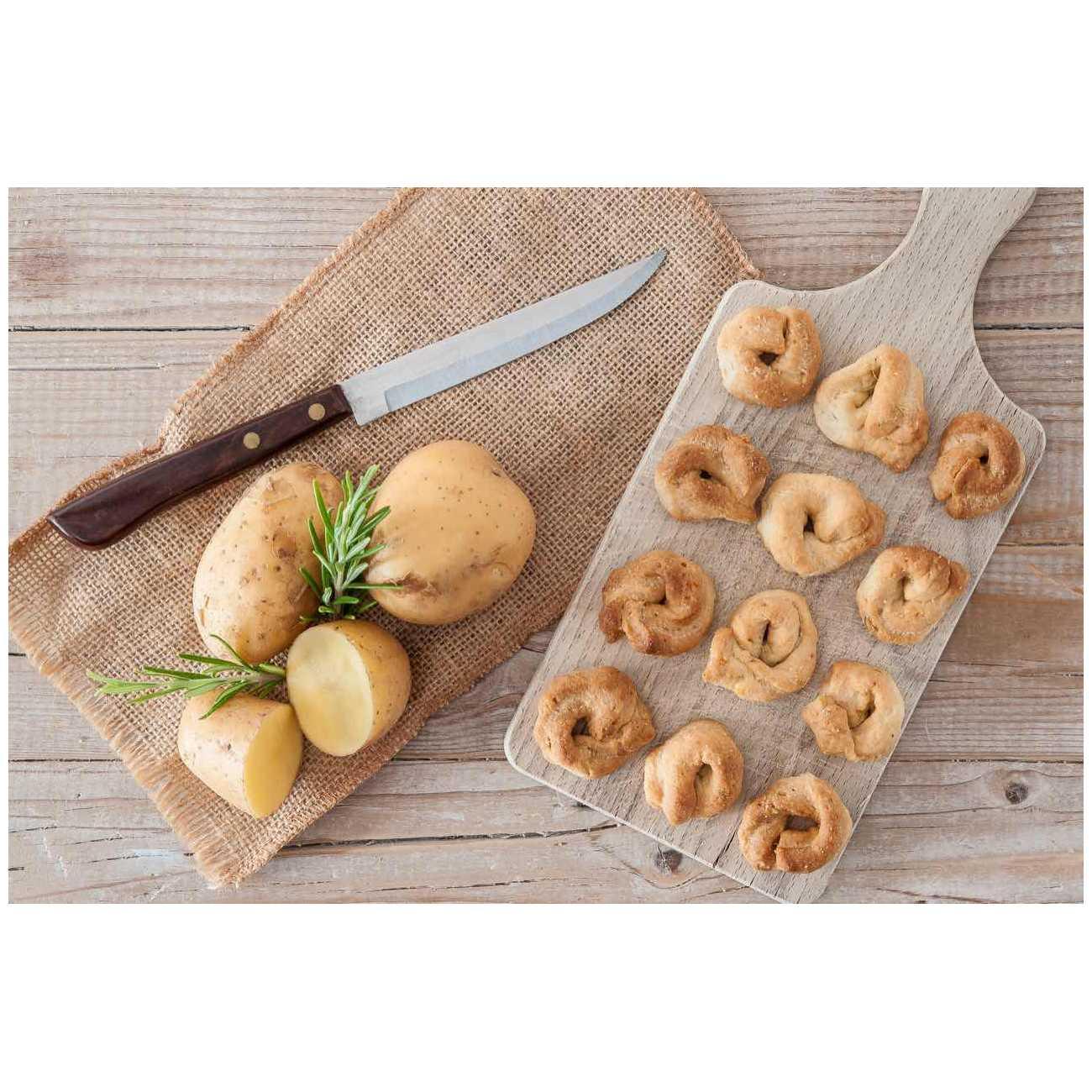 Tarallucci con patate e rosmarino - Grissini